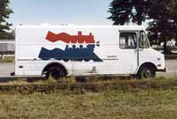 American Freedom Train Panel Van
