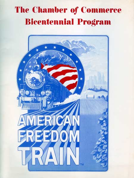 The 1975 1976 american freedom train for American chambre of commerce