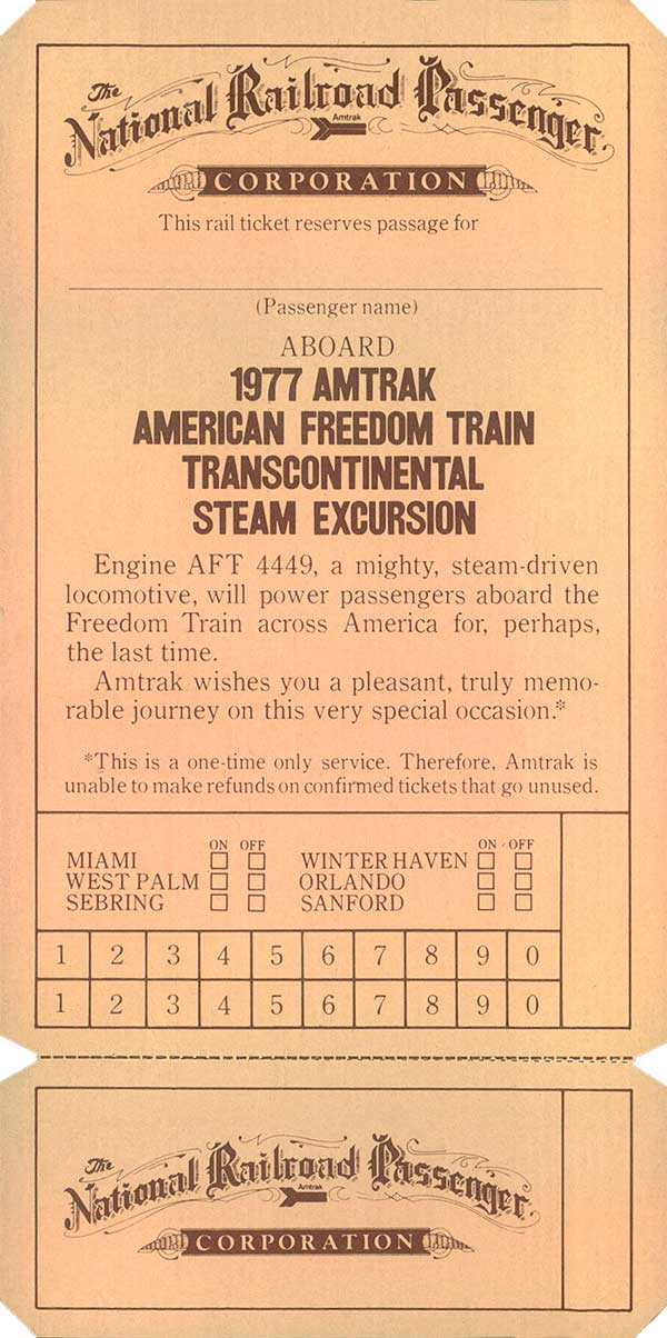 The 1975 - 1976 American Freedom Train