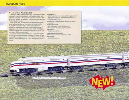 American Flyer S Gauge Freedom Train